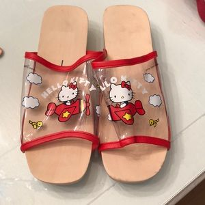 Shoes - New hello kitty Sanrio wood clogs slides 9